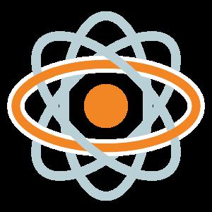 Grafica di sfera centrale con orbitali